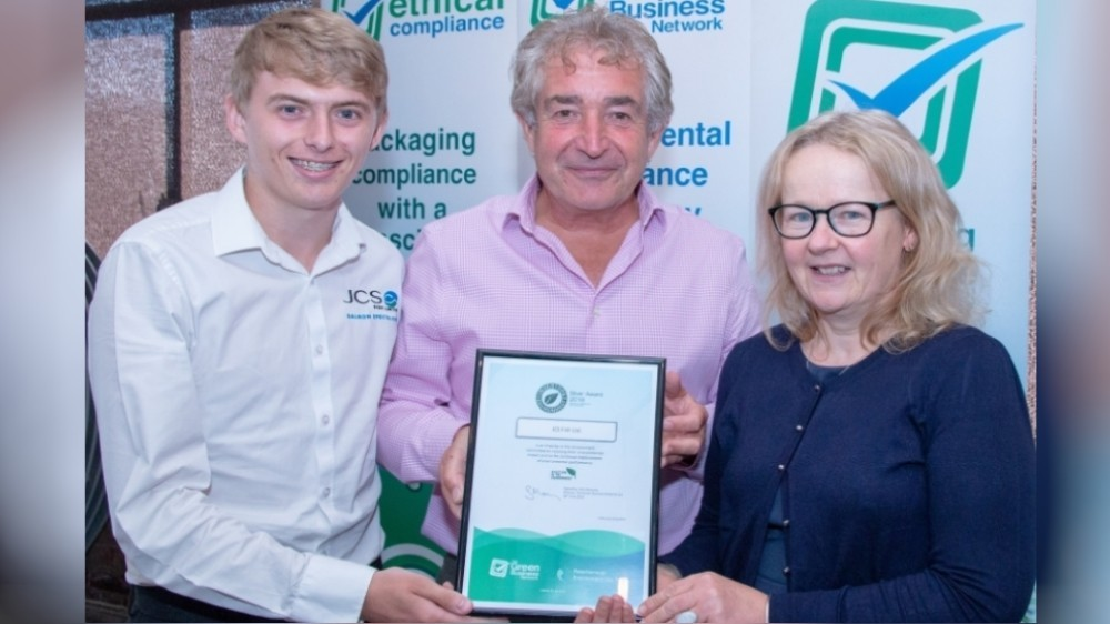 Ann Rogers and Steven Fawcett of JCS Fish with Tony Juniper (centre)