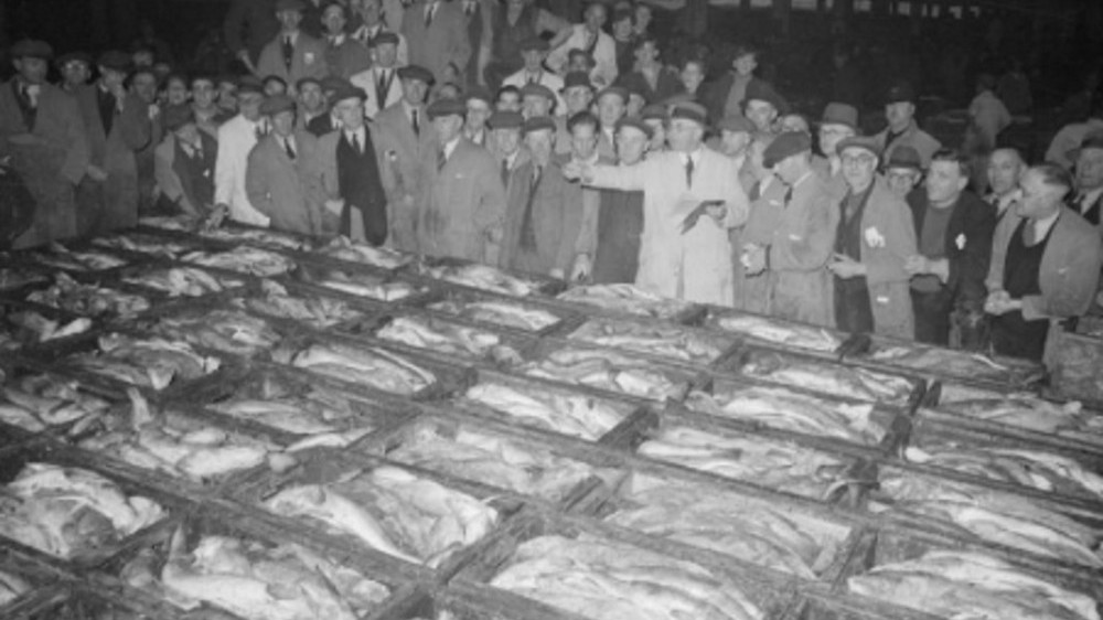 The first Coulbeck family business bought fish at auction at Grimsby