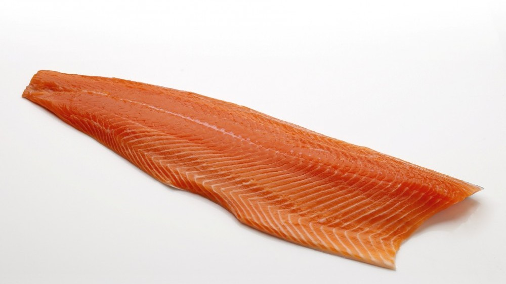 Trimmed salmon fillet