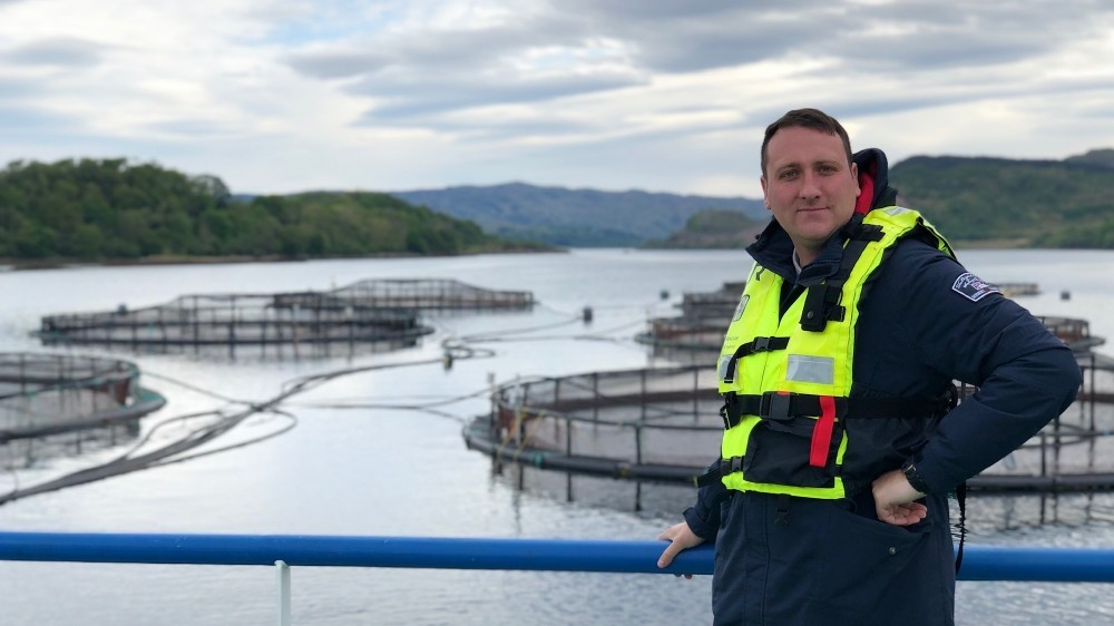 Our factory manager, Luke, during recent inspections of our Scottish suppliers